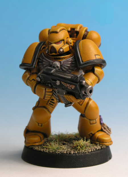 painting imperial fists yellow 10