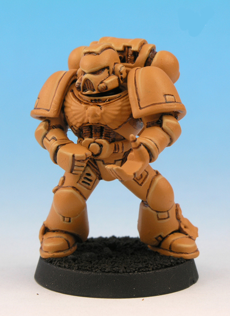 painting imperial fists yellow 7