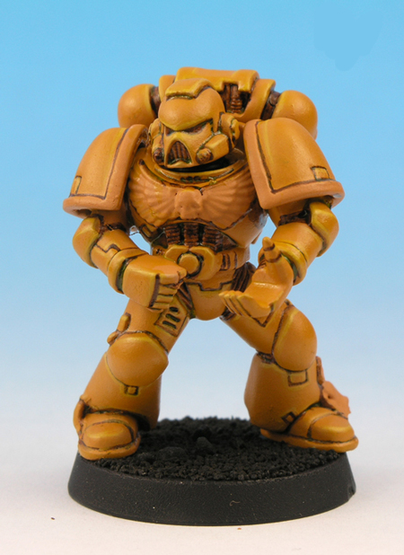 painting imperial fists yellow 8