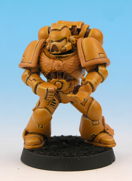 painting imperial fists yellow 9